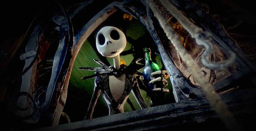 Jack Skellington Drinking